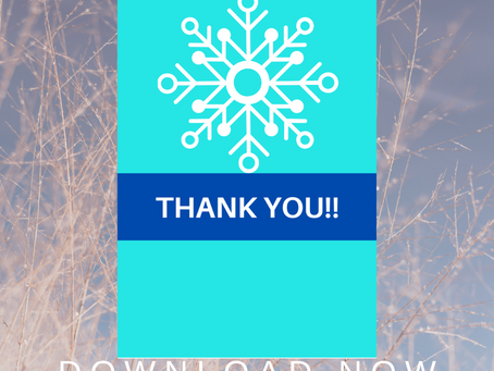 Winter Thank You Card | Free Printable Winter Themed Thank You Note | DIY Winter Birthday Ideas
