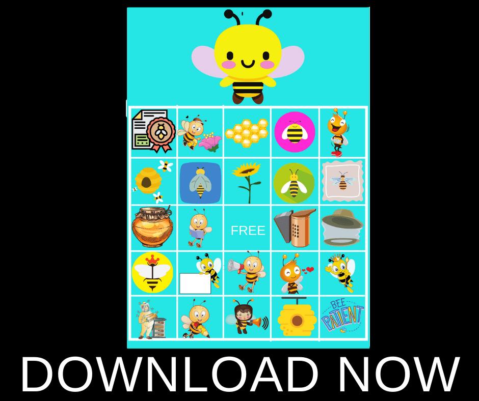 bumble bee baby shower bingo