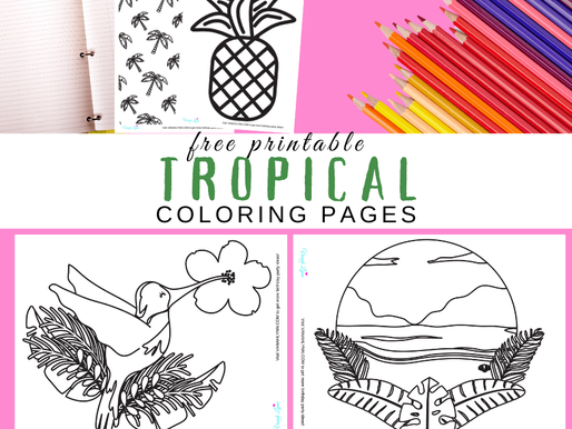 10 Free Hawaiian Coloring Pages for Kids - Print off These Tropical Coloring Pages Today!