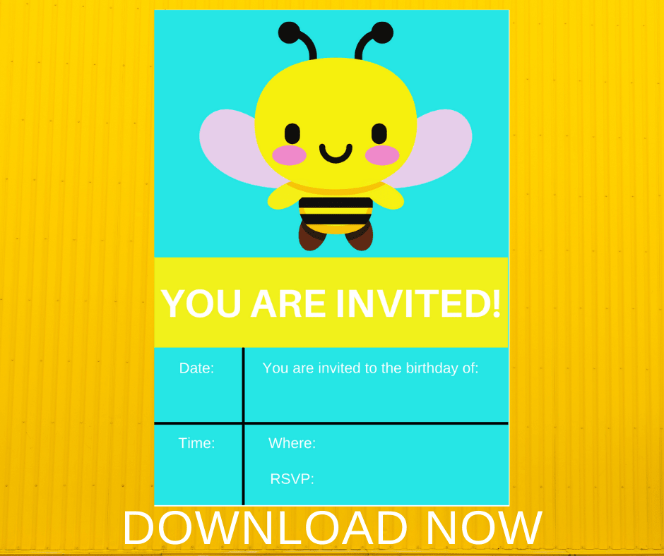 bee birthday invitation template free