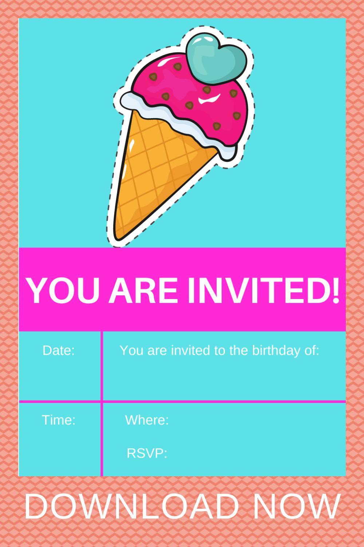 free download: ice cream birthday party ideas