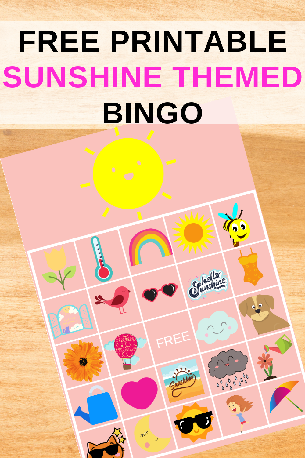 free printable sunshine birthday party games