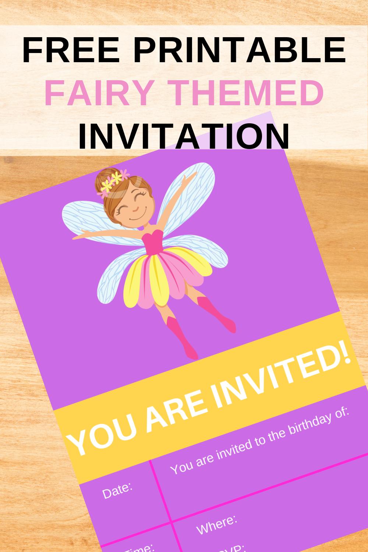 first birthday party girl fairy garden birthday party invite