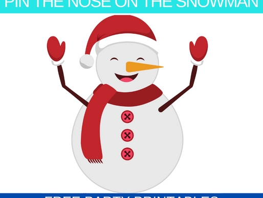 Winter Themed Party Game: Pin the Nose on the Snowman | Winter Birthday Party Activity