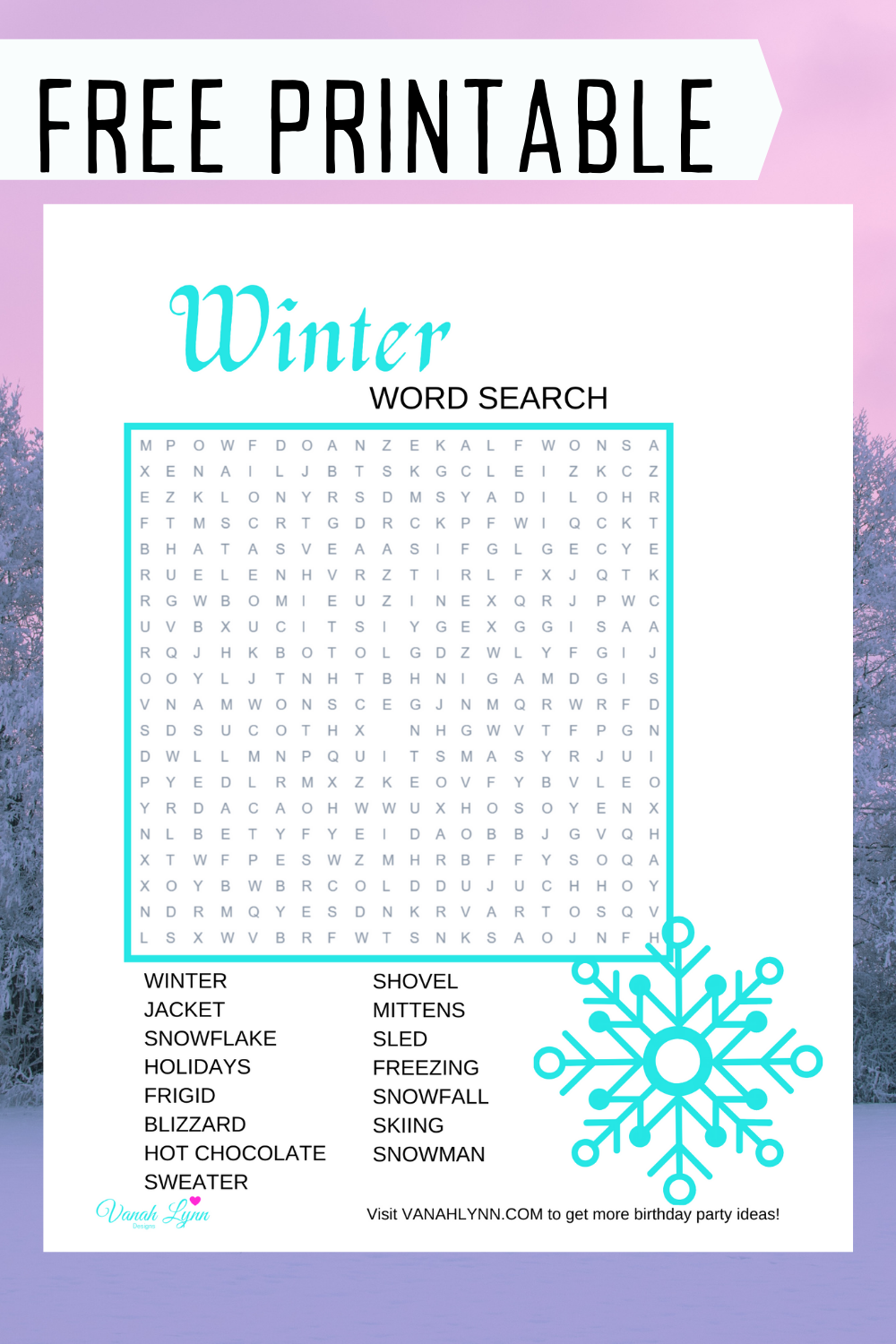 winter birthday party activity ideas for kids
