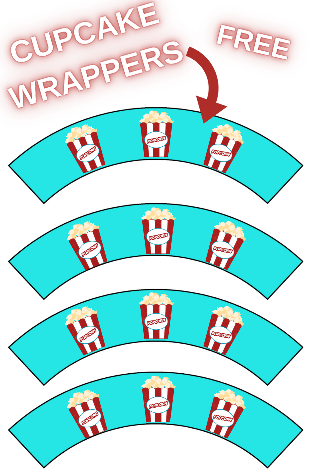 freebie: download now carnival themed cupcake wrappers
