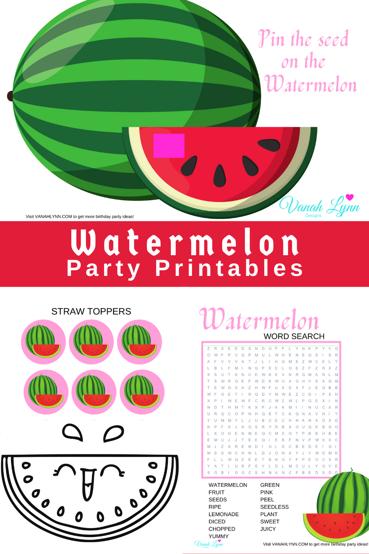 watermelon 1st birthday party supplies