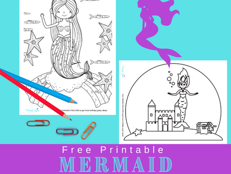Mermaid Coloring Pages | Free Printable Mermaid Activity Sheets | Mermaid Birthday Party Ideas