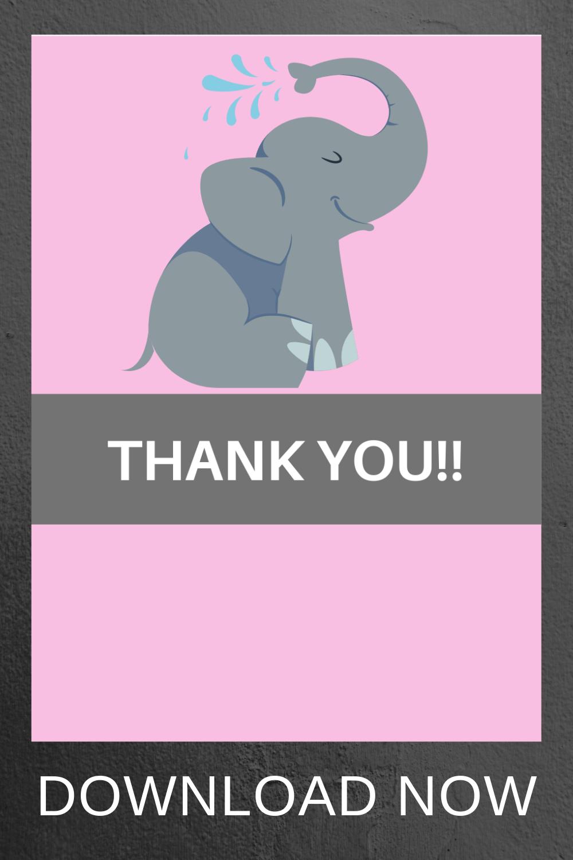 elephant 1st birthday free printable ideas