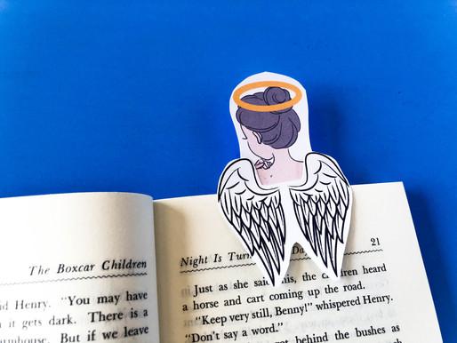 FREE Angel Bookmark: Print at home Angel Bookmark
