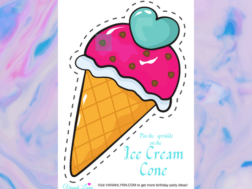 FREE Pin the Sprinkles on the Ice Cream - Ice Cream Birthday Party Games