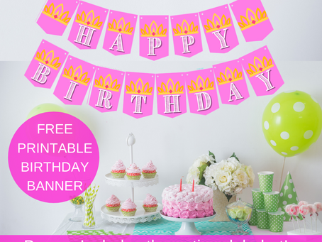 Free Printable Princess Banner
