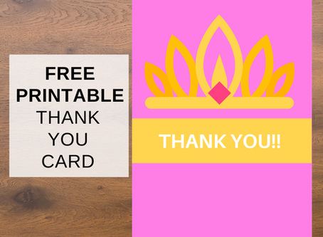 Free Printable Princess Thank You Cards
