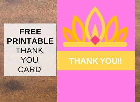 Free Printable Princess Thank You Cards