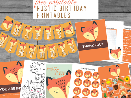 Rustic Party Kit | Free Printable Rustic Themed Birthday Party Ideas | DIY Rustic Decorations