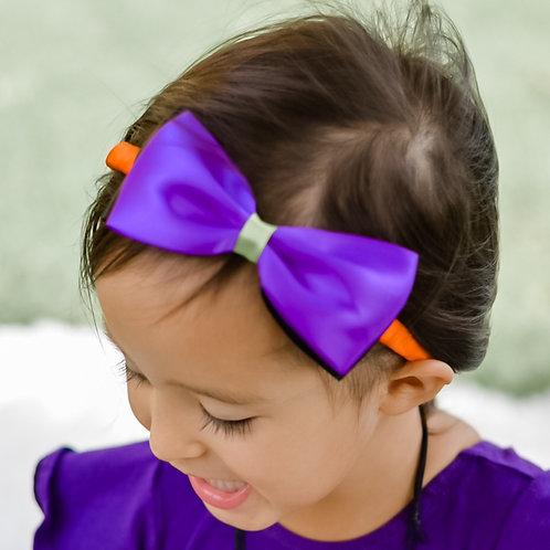 halloween headband on little girl