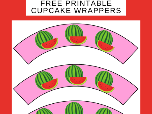 Watermelon Children's Party Ideas: FREE Watermelon Cupcake Wrappers