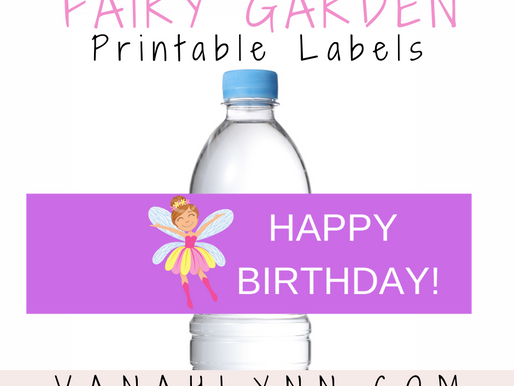 Fairy Garden Water Bottle Label | Free Printable Fairy Garden Birthday Party Ideas | 1st Birthday