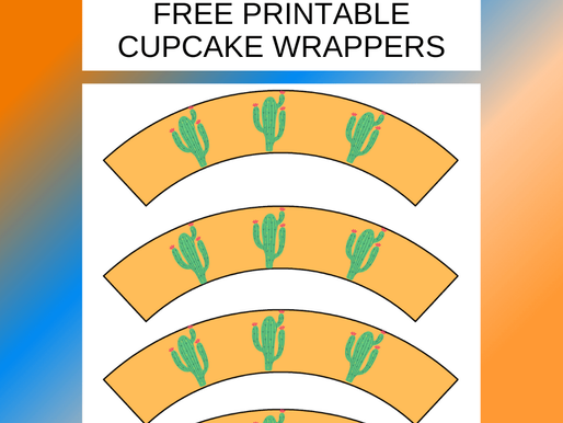 Fiesta Cupcake Wrappers - FREE to Print Now and Decorate Your Cupcakes!