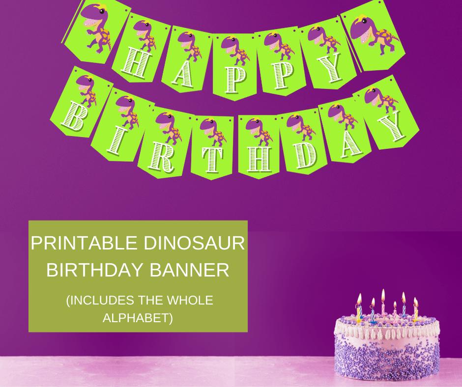 dinosaur birthday banner diy