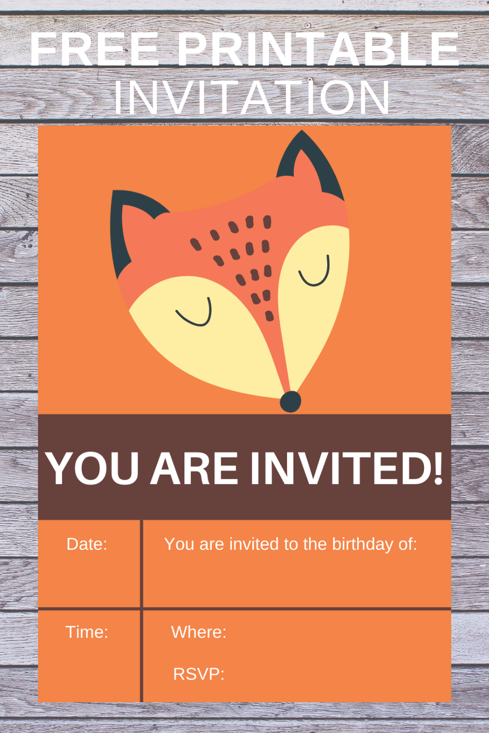 free download rustic animal birthday party invite