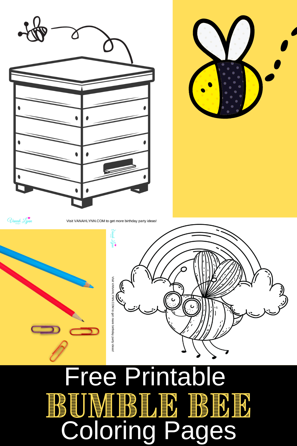 cute and fun bumble bee coloring pages