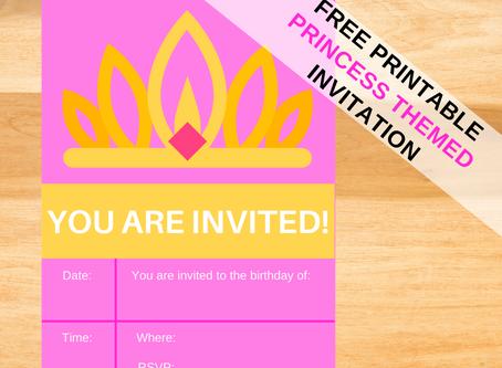 Free Printable Princess Birthday Invitations