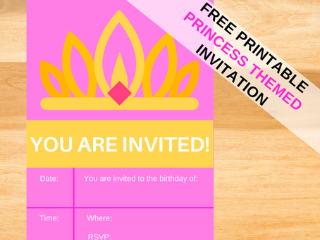 Free Printable Princess Birthday Invitations
