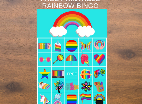 Rainbow Bingo | Includes 20 BINGO Cards and a Calling Card | Free Printable | Download Now