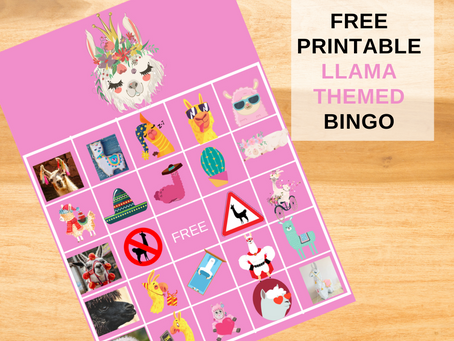 Llama BINGO | Free Printable | Includes 20 Bingo Cards and Calling Card