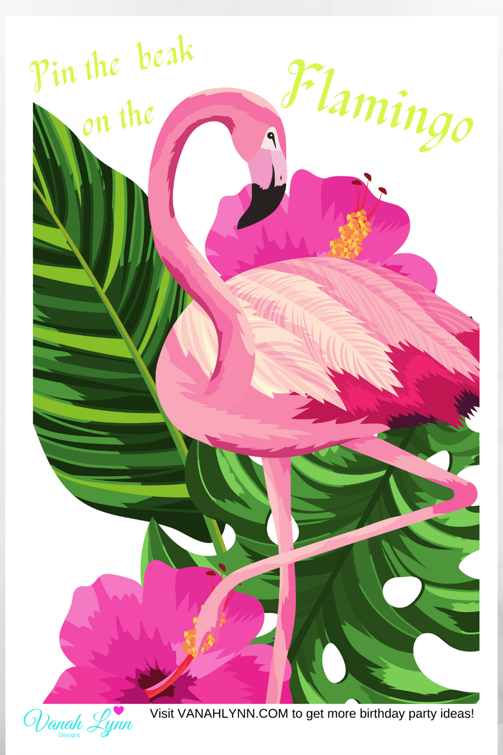 flamingo 1st birthday party games for kids