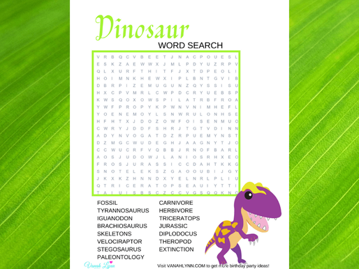 FREE Dino Word Search - Print And Solve Today!