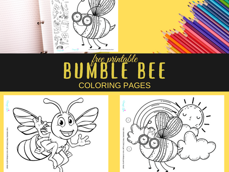 Bumble Bee Coloring Pages | Free Printable Birthday Party Activity | Bumble Bee Themed Printable