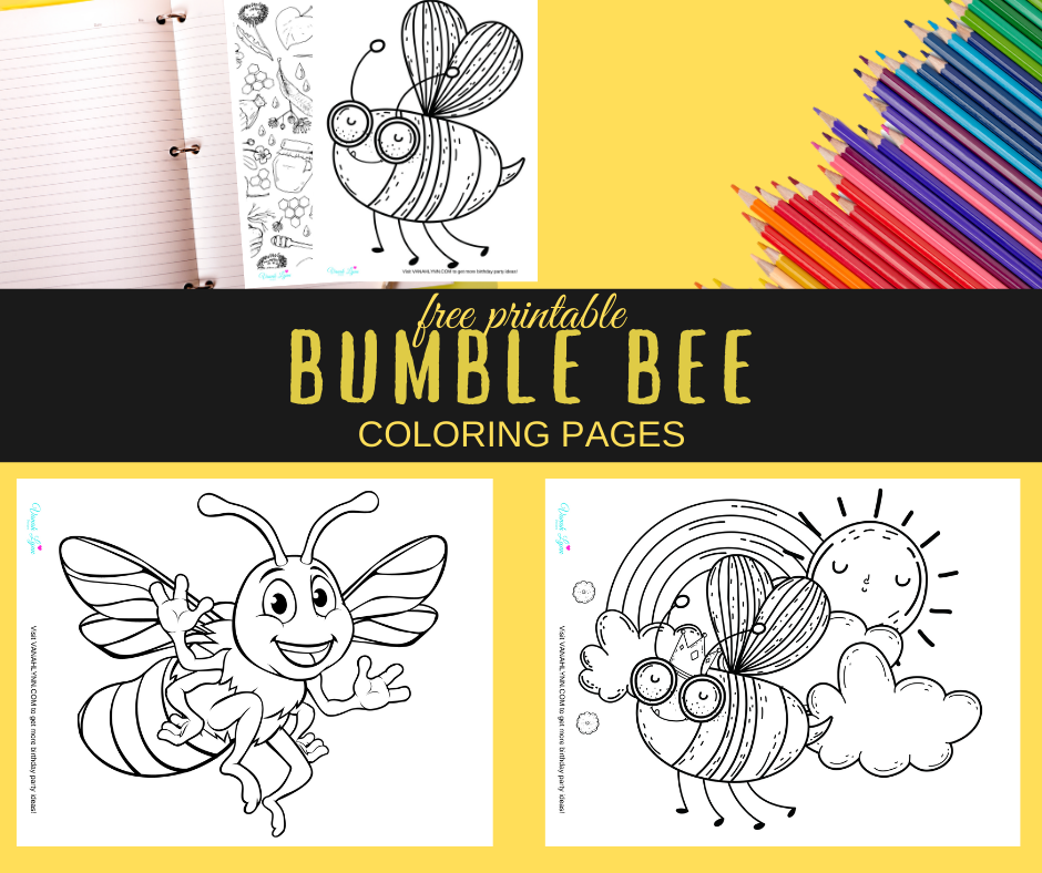 Bumble bee coloring pages for a small child