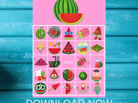 Watermelon Bingo | Watermelon Themed Party Game Ideas | Watermelon Birthday Party Activity