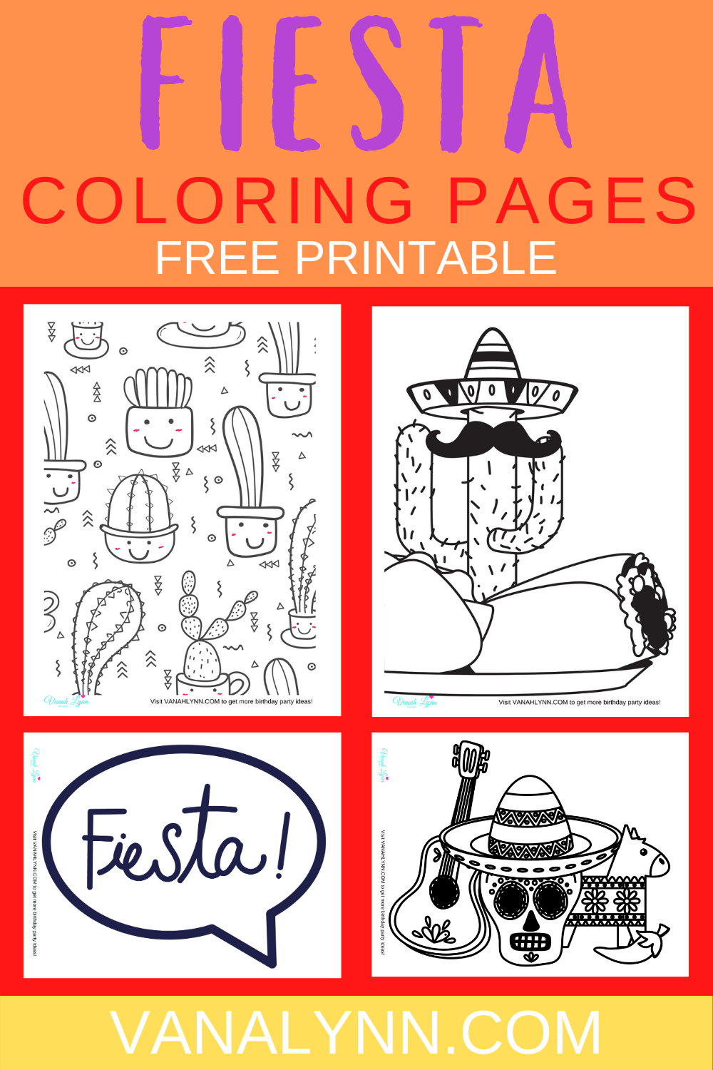 mexican fiesta coloring pages
