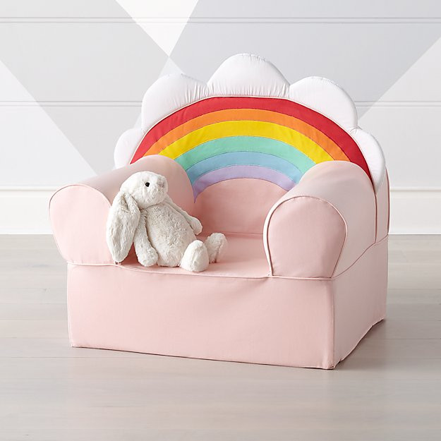 Light pink rainbow chair for toddlers