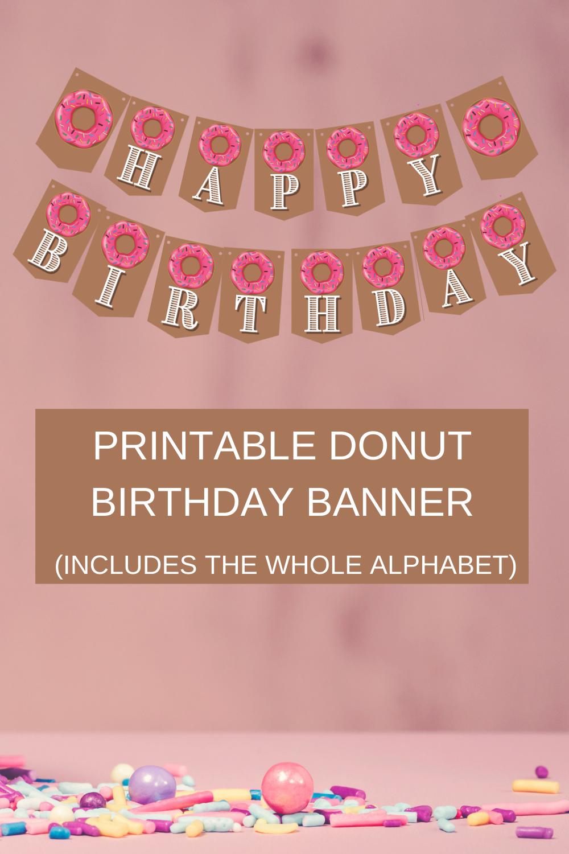 1st birthday donut themed birthday décor
