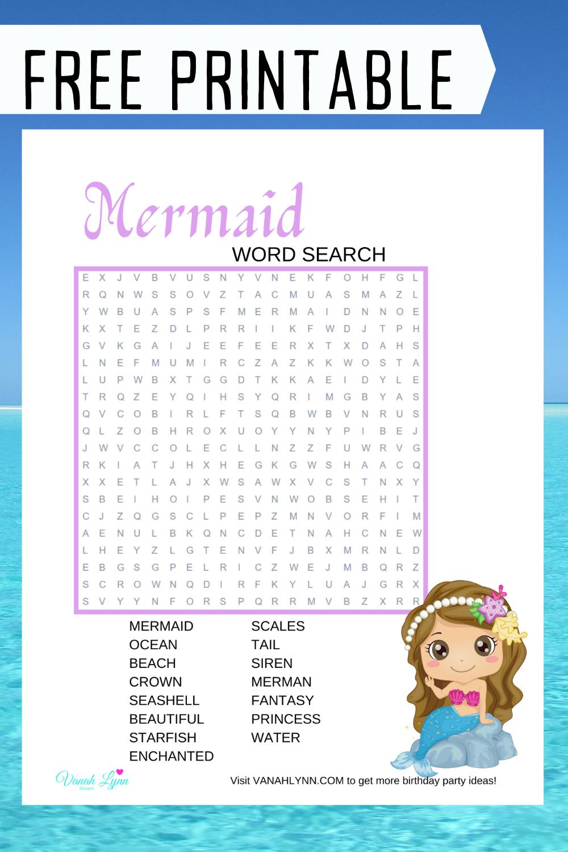 free download: mermaid birthday party activity ideas