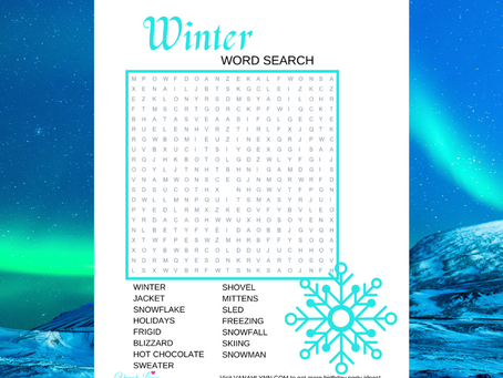 Winter Word Search | Free Printable Winter Themed Activity Sheet | Freebie Winter Word Find for Kid