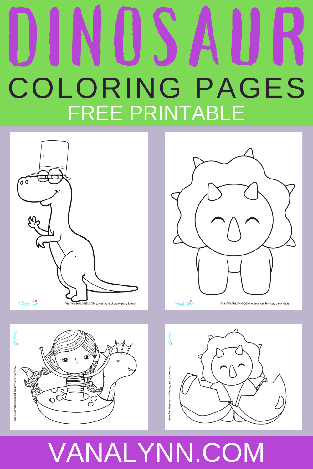 free download: dinosaur coloring pages for birthday party