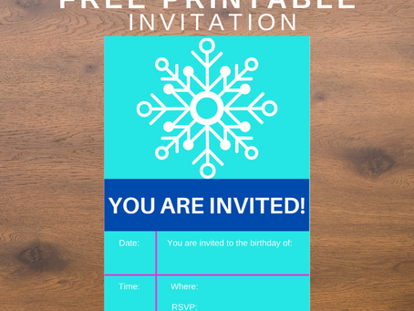 Winter Invite | Free Printable Snowflake Invitations | Winter Themed Birthday Party Ideas