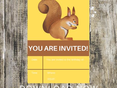 Woodland Invite | Free Printable Woodland Animal Invitation | Woodland Themed Birthday Party Ideas