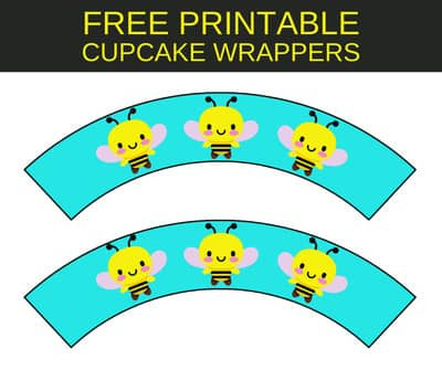 Bumble Bee Cupcake Wrappers - FREE Party Printables