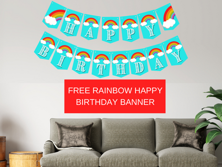 Rainbow Alphabet & Happy Birthday Banner | Free Printable
