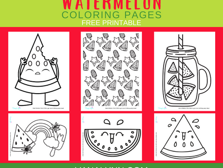 Watermelon Coloring Pages | Free Printable Activity Sheets | Watermelon Themed Birthday Party Ideas