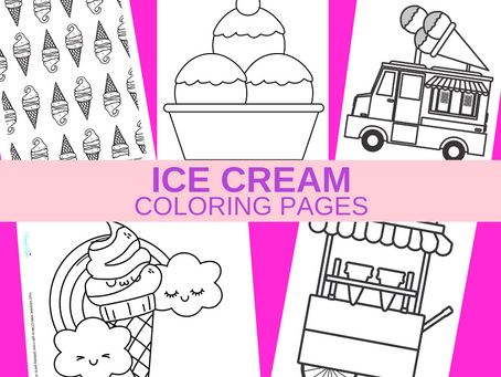 Ice Cream Coloring Pages | Free Printable Ice Cream Activity Sheets | Ice Cream Birthday Party Ideas
