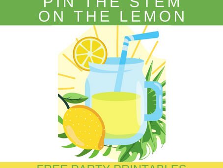 Lemonade Party Game: Pin the Stem on the Lemon | Lemonade Themed Birthday Activity