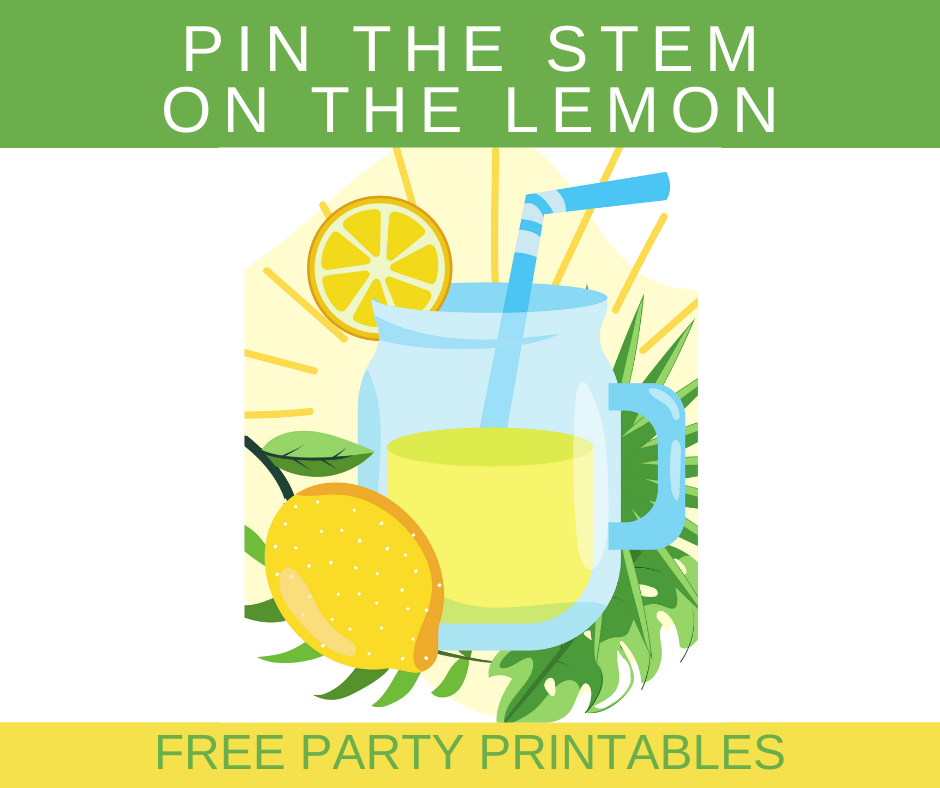 free printable lemonade birthday party games