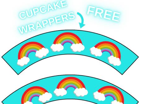 Rainbow Themed Cupcake Wrappers | Free Printable